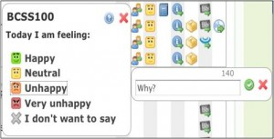 Emoticons used at UNE
